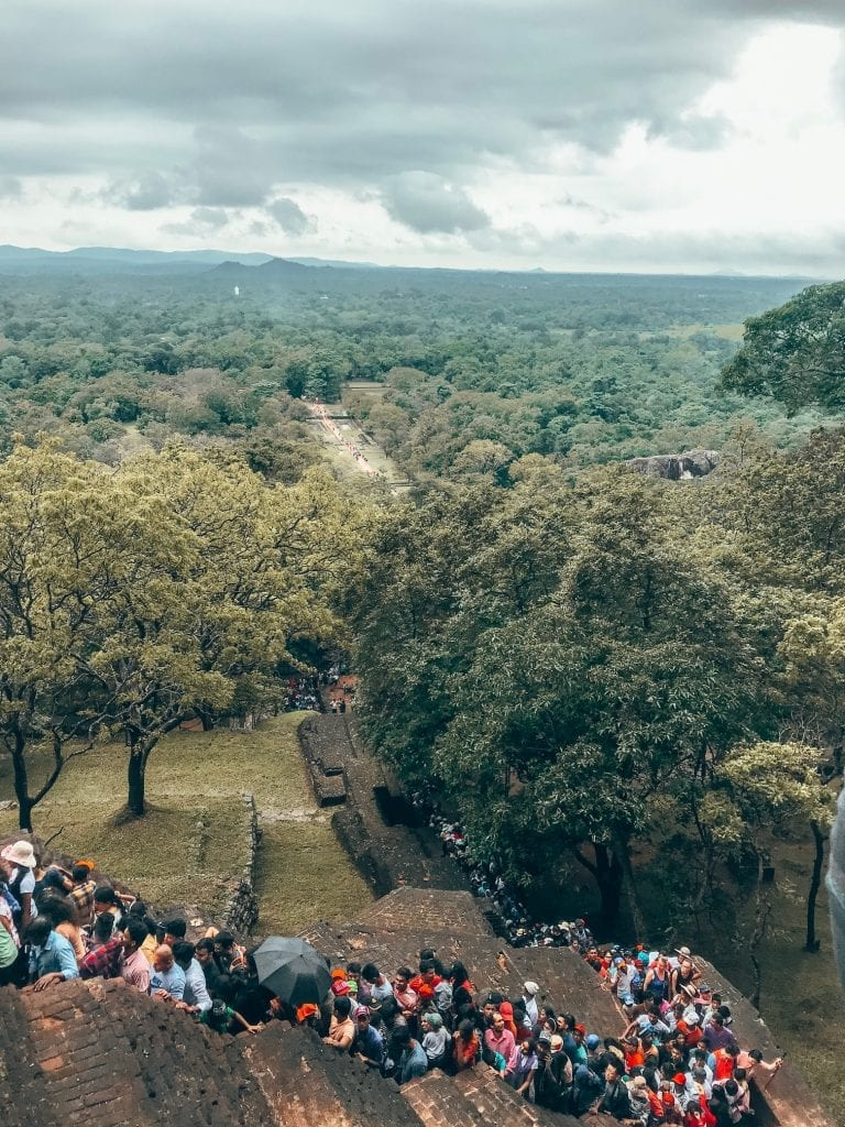 Climbing Sigiriya