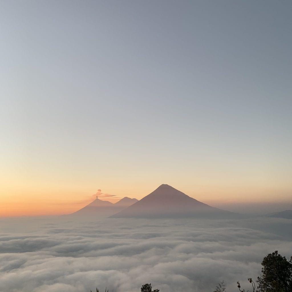 Volcano Pacaya sunset